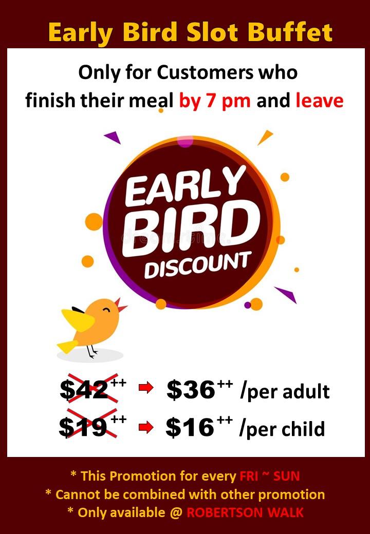 Early Bird Slot3
